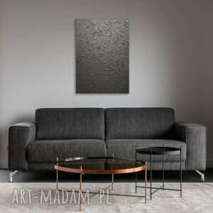 strukturalny obraz czarny, z widocznym efektem 3d 100x70cm