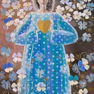 Dłonie są krajobrazem serca ( Jan Paweł II), anioł, serce, miłość