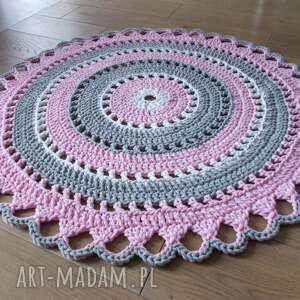 Dywan trzy kolory ze sznurka bawełnianego, 110 cm ineverashop