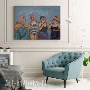 przyjaciółki dzień kobiet obraz olejny 50x70 cm na prezent, przyjaciółki