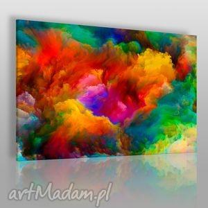 obraz na płótnie - kolorowe chmury 120x80 cm 22001, chmury, kolory, dym, nowoczesny
