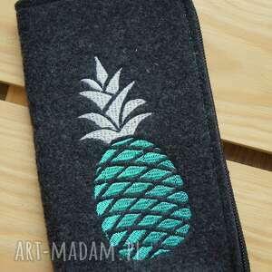 Filcowe etui na telefon - ananas happyart smartfon, pokrowiec