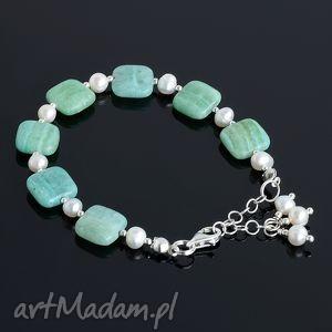 akadi 1 malachit blue, malachit, perły, srebro, oryginalny prezent