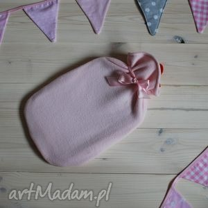 handmade termofor w polarowej koszulce różowy