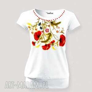 prezent świąteczny, bluzka malowana w kwiaty, bluzka, koszulka, damska, kwiaty