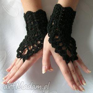 Jedyne w swoim rodzaju ażurowe rękawiczki - ozdobne, gotyckie,