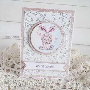 handmade scrapbooking kartki kartka urodzinowa dla dziewczynki, 557