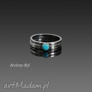 turkusowy minimalizm - zamówienie - minimalistyczne, obrączki