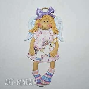 uwielbiam jednorożce - aniołek, jednorożec, na prezent, pod choinkę