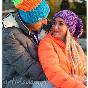 neverland neony - jesień, zima, czapka, męska, włóczka