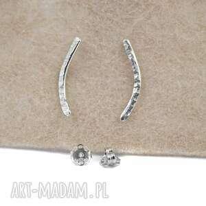 Srebrne patyczki zgustem kolczyki srebrne, srebrne-łuki, srebro