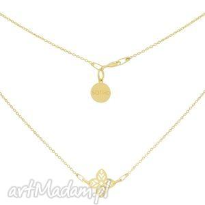 złoty naszyjnik z arabską rozetą sotho - pozłacany