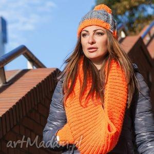 czapka my choice 4 - czapka, zima, ciepła, polar, pompon, włóczka