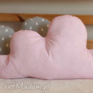 Różowy obłoczek: pokoik dziecka zielonegroszki chmurka, podusia