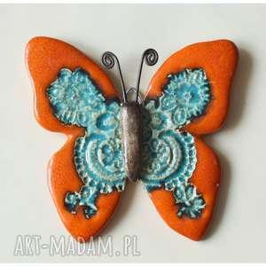 ręcznie robione ceramika motyl pomarańczowy