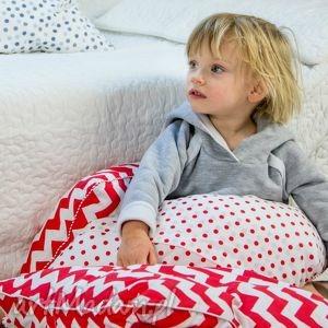 pokoik dziecka poszewka na poduszkę l - truskawkowy zygzak, poszewka, poduszka