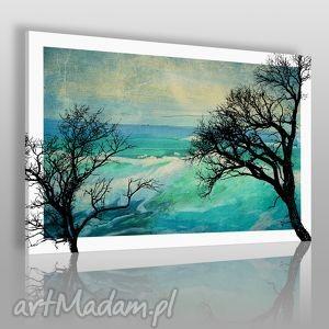 obraz na płótnie - konary turkus 120x80 cm 17901 , konary, gałęzie, drzewo