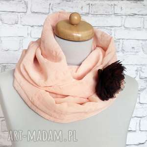 handmade szaliki szyfonowy morelowy szal komin