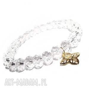 czakibransoletki rozetka w kryształkach, rozeta, arabeska, charms, złoto, kryształy