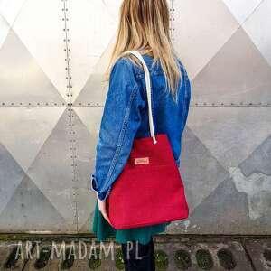 torebka pojemna jagoda czerwona, torebka, sznurki, pojemna, prezent, klasyczna