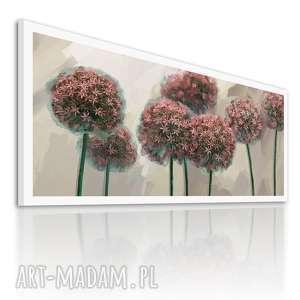 obraz na płótnie 120x50 - kwiaty czosnku 0326 wysyłka w 24h
