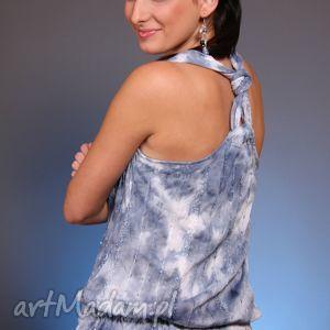 Cieniowany top z cekinami ubrania efimero top, batik, cieniowany