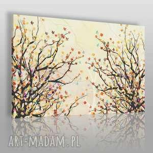 obraz na płótnie - drzewo gałęzie liście kolory 120x80 cm 71101, gałęzie