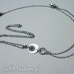 circle smycz - naszyjnik - srebro, onyks, cyrkonia