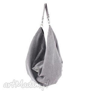 duża torba oversize voor tarka jasny szary, duża, ogromna, prezent, handmade