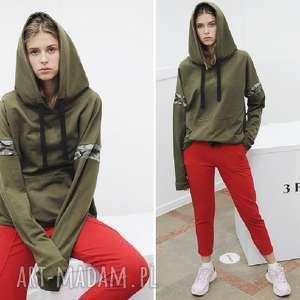 Bluza DAMSKA -khaki, sport, fitness, wygoda, moda, bawełna, desing