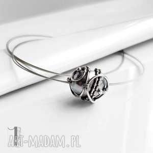 hand-made naszyjniki graphite ii - srebrny naszyjnik z perłą majorka