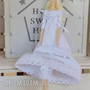 ręcznie zrobione lalki anioł tilda pamiątka pierwszej komunii