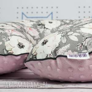 Duża poduszka do karmienia róże dla dziecka nuvaart poducha