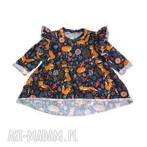 sukienka dla dziewczynki liski, dzewczynki, dziecka
