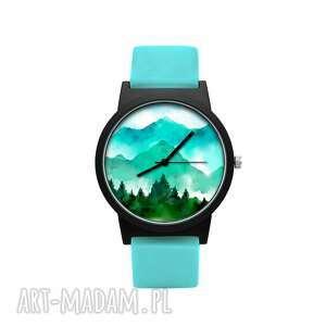 zegarek z silikonowym paskiem góry, natura, las, prezent, wspinaczka, podróże