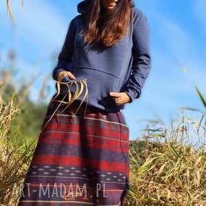 spódnice etno spódnica, etno, boho, paski, jsienna spodnica, trapez, folkowa