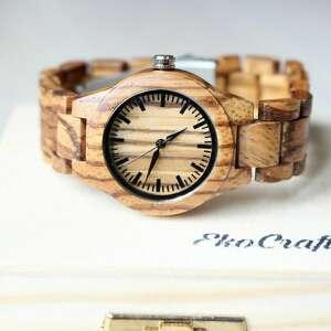 damski drewniany zegarek wooden dream, na bransolecie, ekologiczny