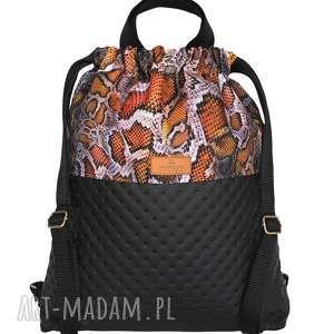 hand-made plecak eko skóra węża