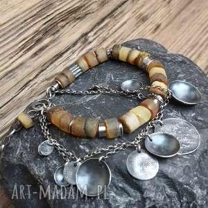 bransoletka srebrna z bursztynami, bursztyn bałtycki