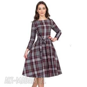 Sukienka MARIE 3/4 Midi Dagmara, sukienka, kratka, midi, pasek, rozkloszowana