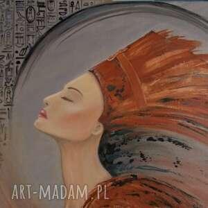 nefretete, obraz olejny na płótnie, olejny, kobieta akt