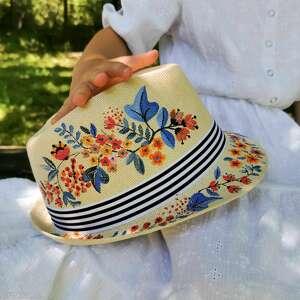 Kwiatowa panama czapki liliraj kapelusz, kapelusz panama