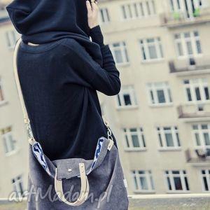 ręcznie wykonane na ramię worek xl #taupe&nude