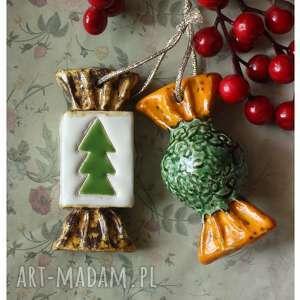 ceramika zestaw cukierków na choinkę 1, ceramika, cukierki, święta