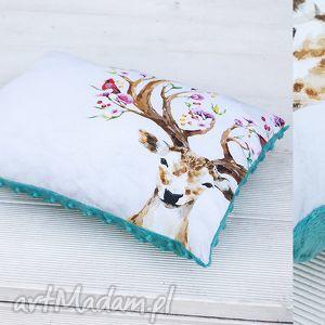 poduszka- jeleń, poduszka, ozdoba, prezent, minky, wiosna