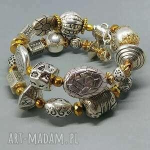 bransoleta w srebrno-złotej tonacji topowy styl boho znakomity prezent