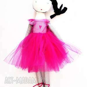 Lila róż baletnicą rafineria cukru lalki lalka, szmacianka