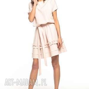 b3c562b8709a ciekawe sukienki - sukienka z kontrafałdą z przodu t263 wzór