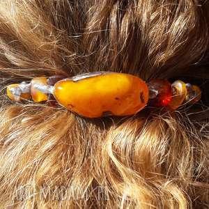 spinka do włosów bursztyn tiffany, spinka, włosy, bursztyn, prezent, tiffany