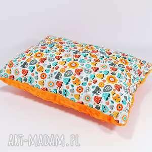 urocza podusia minky 30x40cm stworki orange - stworki, orange, poduszka, bawełna